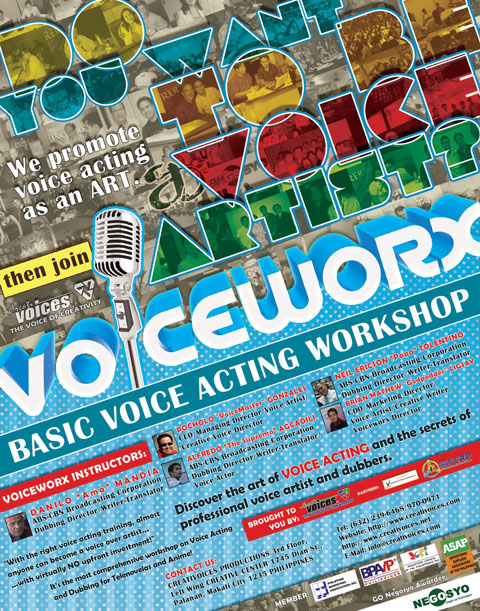 VoiceWorx! Basic  Voice Acting and Dubbing Workshop