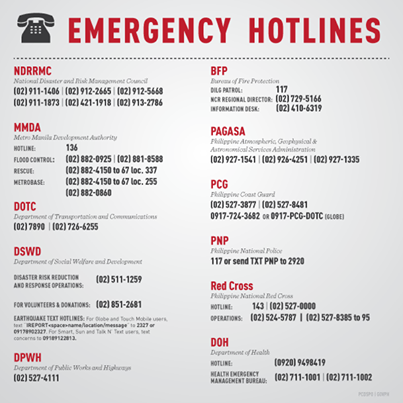 emergency hotlines