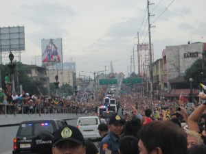 Nagtahan Bridge, Manila seconds after the Pope's motorcade.