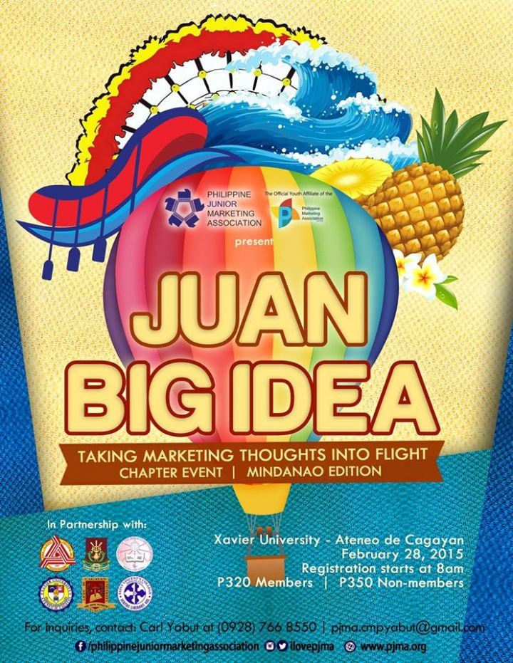 PJMA Chapter Event Juan Big Idea Mindanao Poster