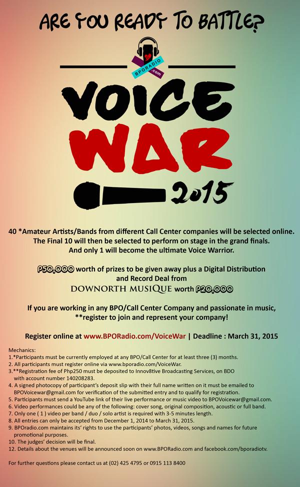 VOICE WAR MECHANICS web