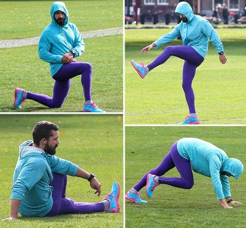 Shia LaBeouf Exercising