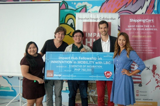 Winner of Impact Hub Fellowship on Innovation in Mobility with LBC