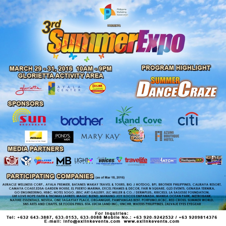 3rd PMA Summer Expo