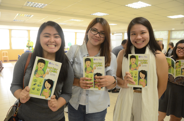 Author Mark Kevin de Guia's co-fellows from Teach for the Philippines come to support Junior Ipon's launch.