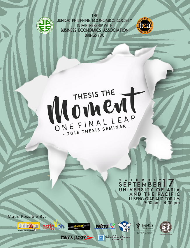 Thesis The Moment: One Final Leap
