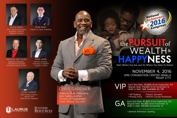 """Chris Gardner in Manila """"The Pursuit of Wealth and Happyness"""""""