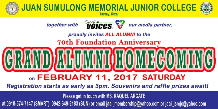 Juan Sumulong Memorial Junior College Alumni Homecoming