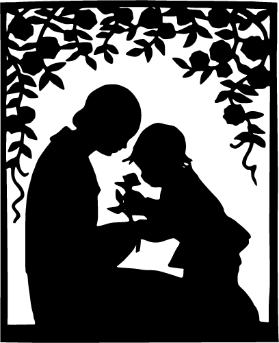 mother-and-child-silhouette