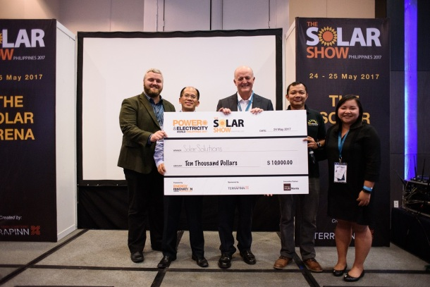 Solar Solutions won the pitching competition at the Solar Show Philippines and received USD10,000
