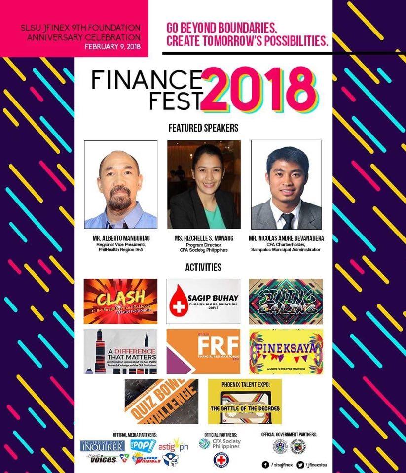 SLSU JFINEX Finance Fest 2018