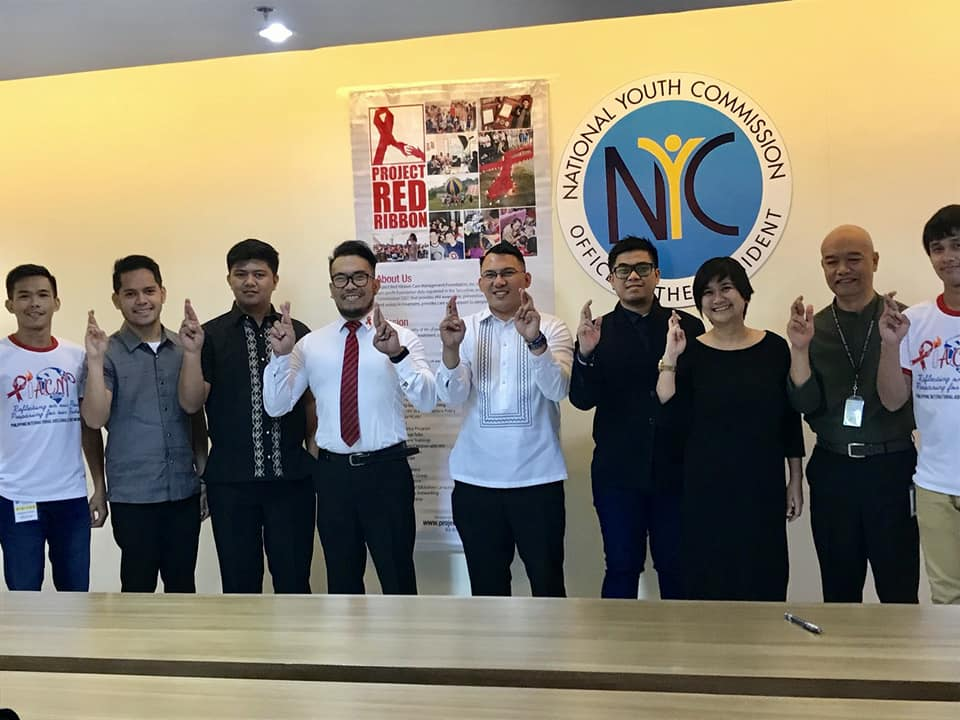 The Project Red Ribbon with NYC Officials during MOU Signing on National Youth HIV and AIDS Prevention Program.jpg